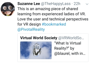 Lessons in VR