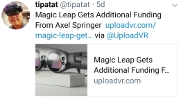 Magic Leap additional funding
