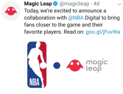Magic Leap collaboration with NBA