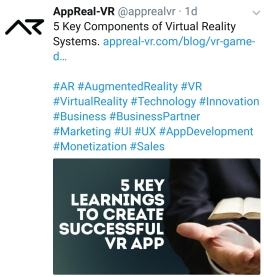 VR 5 Key learnings