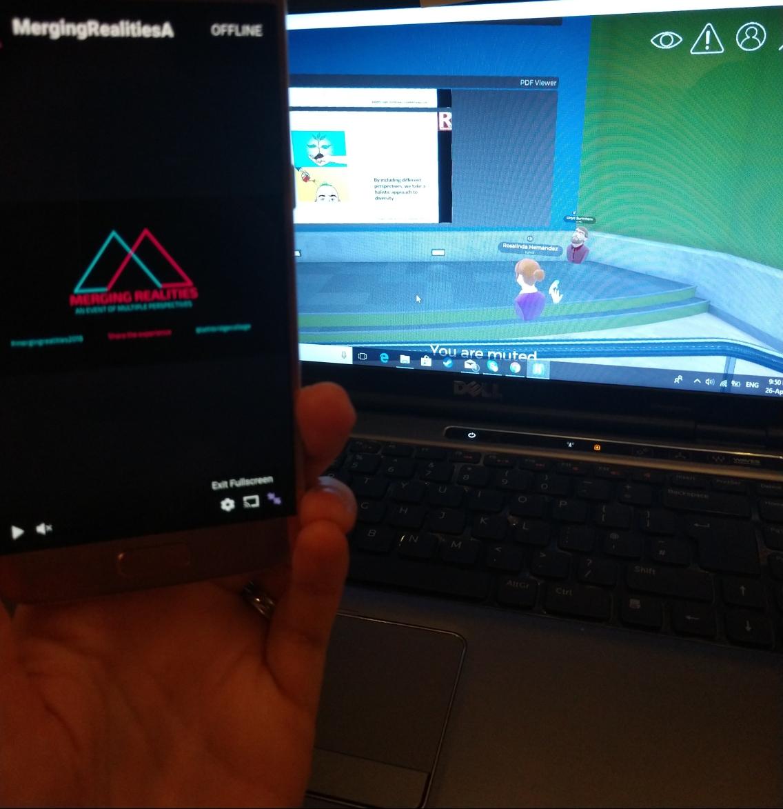 Merging Realities desktop and mobile
